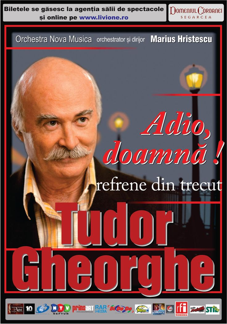 """Adio, doamna!"" – refrene din trecut aduse de Tudor Gheorghe la Iasi"