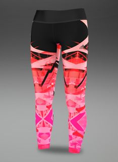adidas Womens Studio Power Laces Tight - Womens Running Clothing - Neon Pink