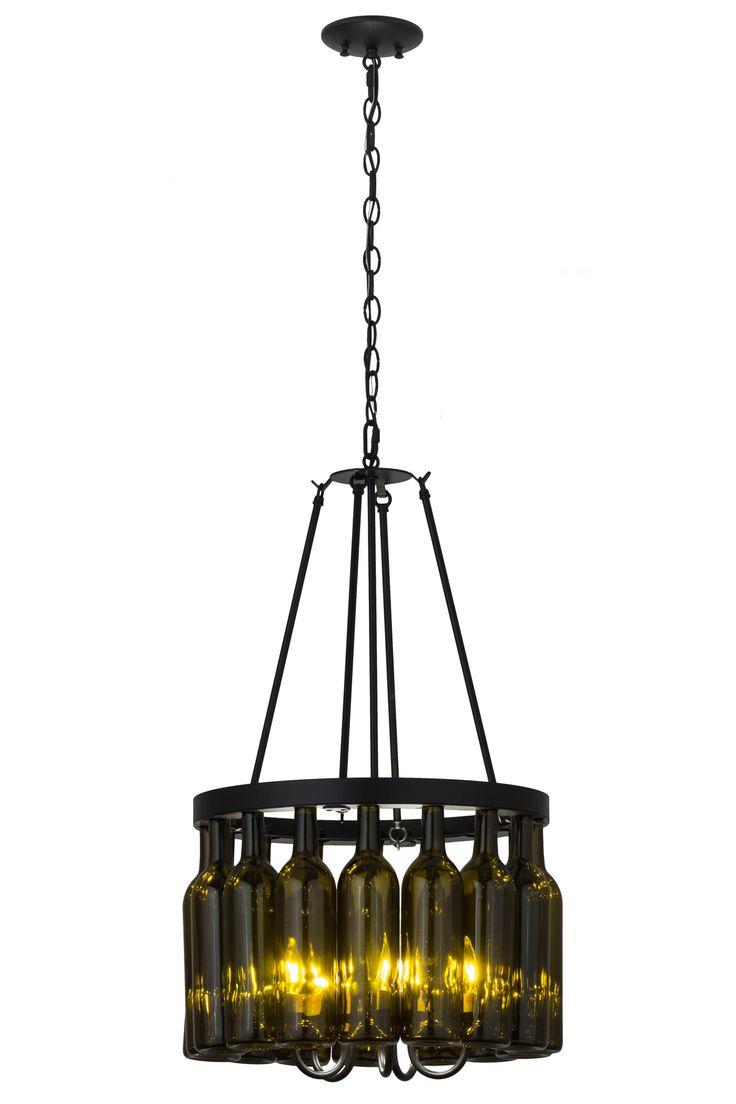 25 best ideas about wine bottle chandelier on pinterest bottle chandelier light bulbs plus - Wine bottle light fixture chandelier ...