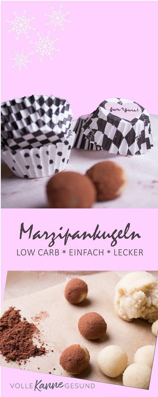 Leckere Marzipankugeln in Low Carb? Geht! Marzipan lässt sich ganz einfach selbst herstellen - mit wenigen Zutaten in unter 15 Minuten! Schnell, einfach, Low Carb - und sooo lecker!