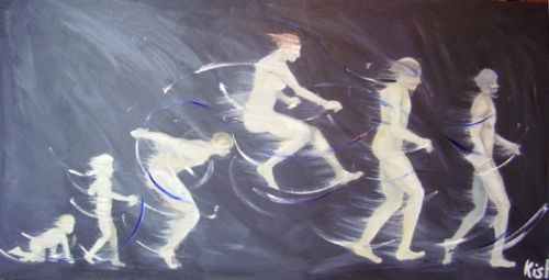 Painting Of Child At Different Life Stages