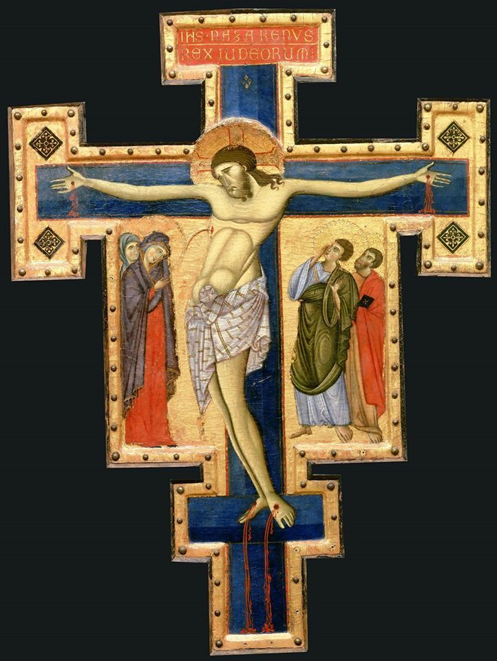 Crucifix Author: Master of St. Francis Date: 1260 Technique: tempera and gold on wood Dimensions: 86 × 73 cm.