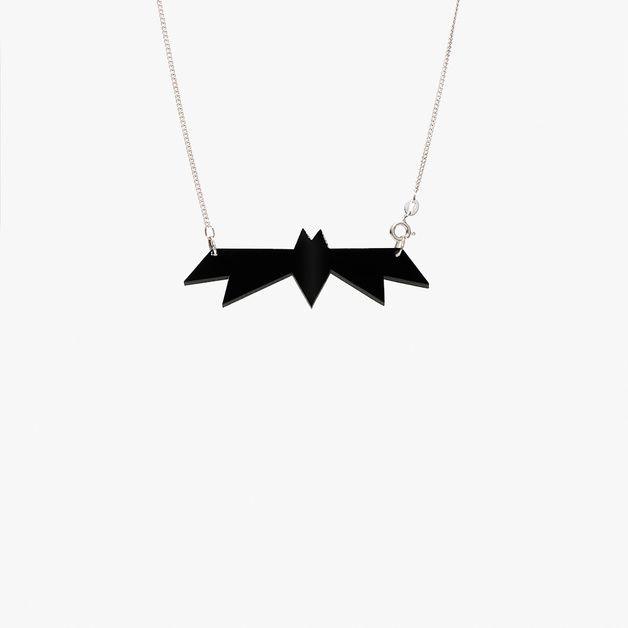 Ketten mittellang - Kette Fledermaus - ein Designerstück von neonpolka bei DaWanda