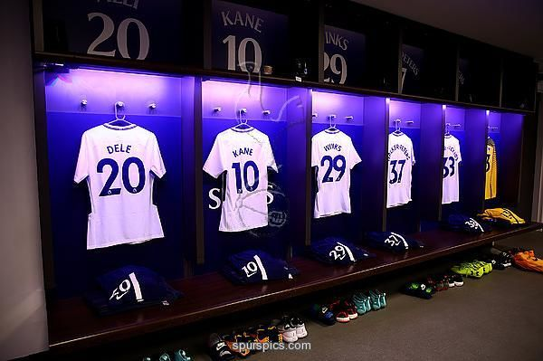 LONDON, ENGLAND - AUGUST 05: A general view inside the dressing room prior to the Pre-Season Friendly match beween Tottenham Hotspur and Juventus at Wembley Stadium on August 5, 2017 in London, England. (Photo by Jordan Mansfield/Getty Images)