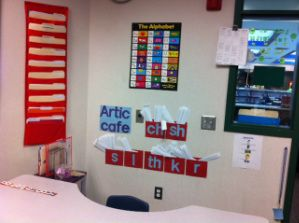 Great idea! Like this artic cafe! A peek at heardinspeech's room!  Repinned by SOS Inc. Resources.  Follow all our boards at http://Pinterest.com/sostherapy for therapy resources.