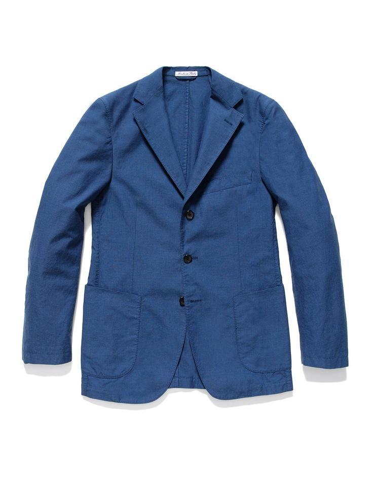Belvest's slim fit garment-washed blazer