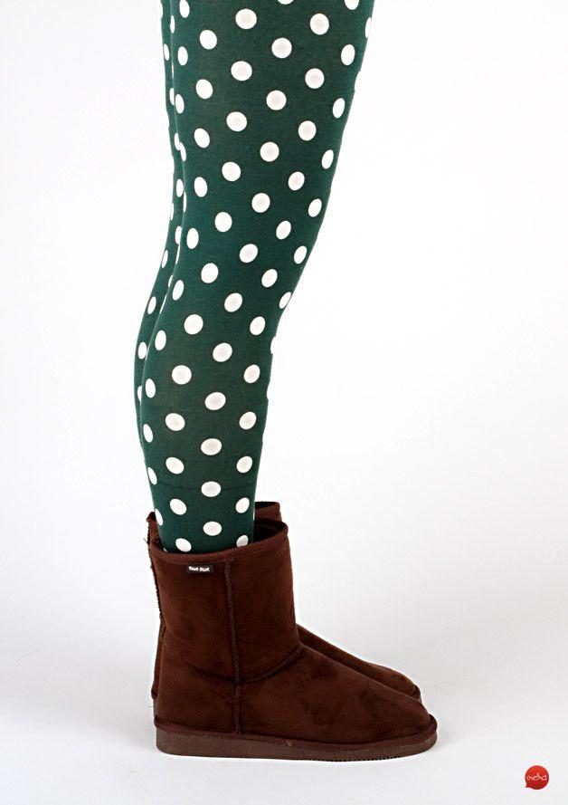 Fröhlicher Herbst: gepunktete Leggins / polka dot leggins, fun fashion by meko store via DaWanda.com