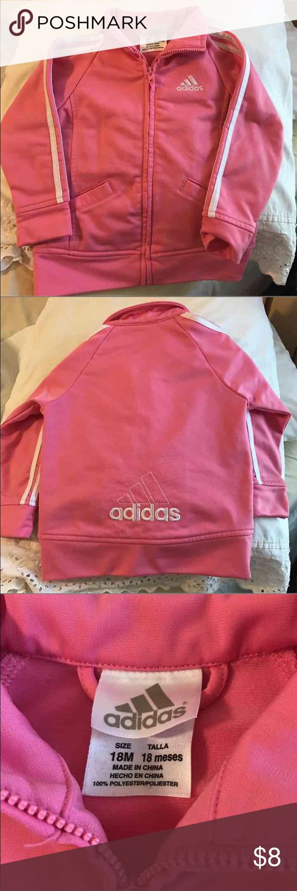 Infant Girls Adidas Jacket 18 months.  Clean, no stains or defects. Non-smoking home. Adidas Jackets & Coats