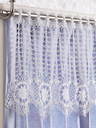 Free Crochet Pattern Flower Curtain : 15+ best ideas about Crochet Curtains on Pinterest ...