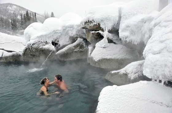 go to a natural hot spring.