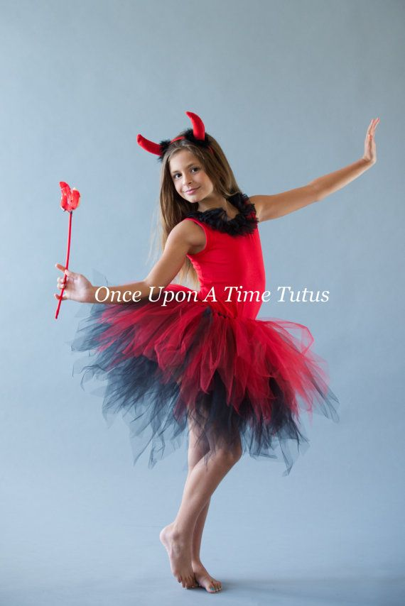 Black Red Pixie Tutu - Girls Size 3 6 9 12 18 Months 2T 3T -8101