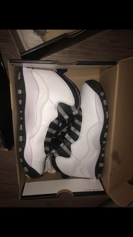 1925d12dd71 Air Jordan Steel 10 Retro / White/ Steel Grey Size 6 Pre Owned With Box # fashion #clothing #shoes #accessories #mensshoes #athleticshoes (ebay link)