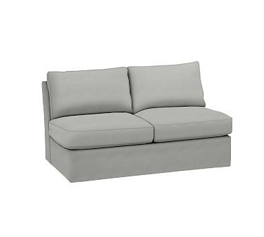 Pearce Slipcovered Armless Loveseat Down Blend Wrapped