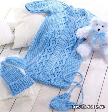 вяжем шапочку для младенца своими руками   Подарки для новорожденных: подборка ...
