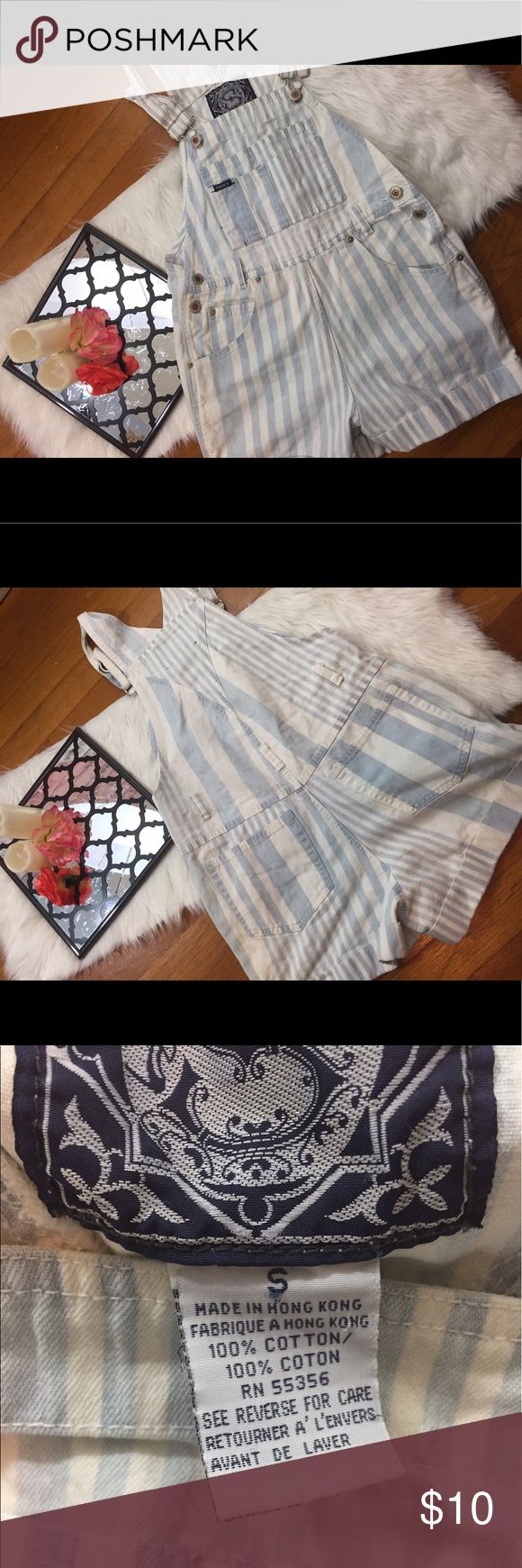 """Not so normal women's overalls size small This pair of not so normal overalls are a size small . They measurment from the shoulder strap to the bottom of the short is 29"""" . They are in good condition not so normal Shorts"""