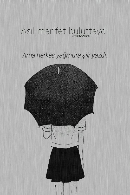 Asıl marifet buluttaydı ama herkes yağmura şiir yazdı. - Cahit Zarifoğlu