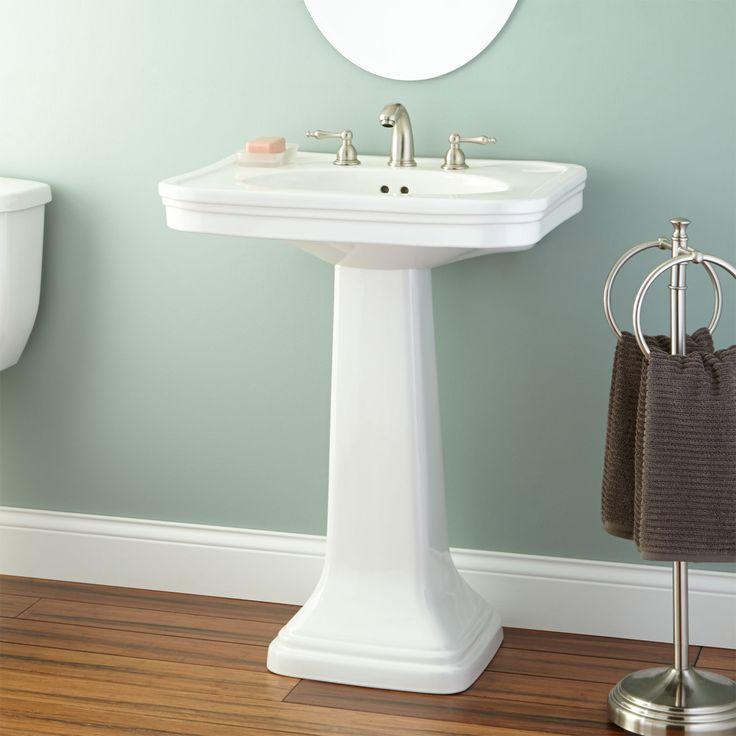 78 best bath redo images on pinterest bathroom home for Floating pedestal sink