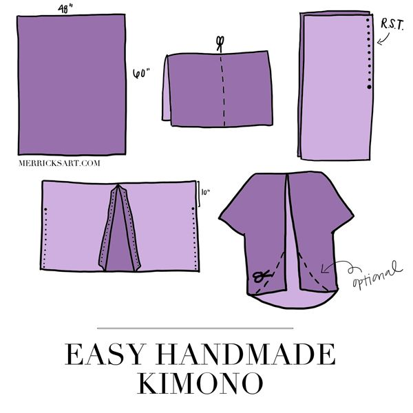 DIY This Pretty Kimono in Less Than 30 Minutes!