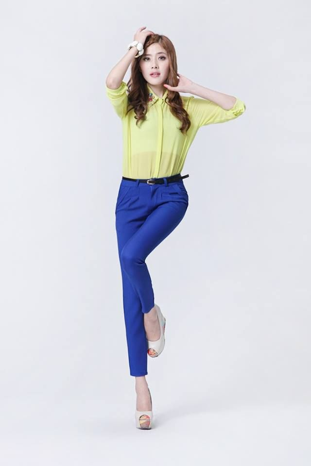 Moda los pantalones dobladillo - CON CORREA  Precio: $ 60.000 Talla: S M L XL Estilo: Moda Material: Algodón, Poliéster