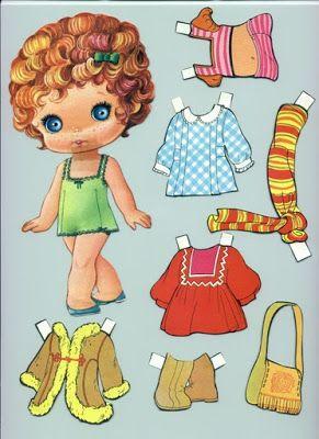 Muñecas para recortar: Muñecas de papel con vestidos - Cris