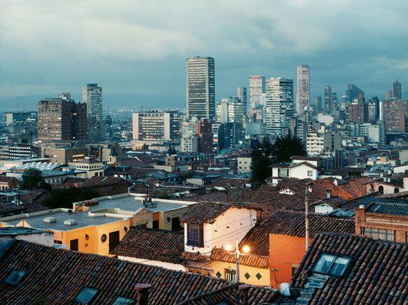 The Bogotá skyline, as seen from La Candelaria