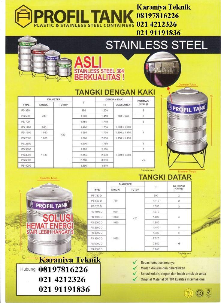 Water Tank  ProfilTank di  Jawa Barat   021 911 91836 , 021 4212326 , 08197816226   https://www.tokopedia.com/neocatalonia/watertorn-profil-tank-stainless-ps-380-d?n=1