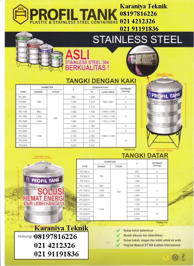 Water Tank Profil Stainles PS 1100http://www.indotrading.com/product/water-tank-profil-p212175.aspx