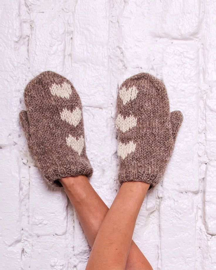 Wool mittens Knit gloves with hearts Rustic beige mittens Hearts arm warmers Hand knit mittens Winter knitted gloves Valentine's day gift by MyCharmingWool on Etsy https://www.etsy.com/listing/463749932/wool-mittens-knit-gloves-with-hearts
