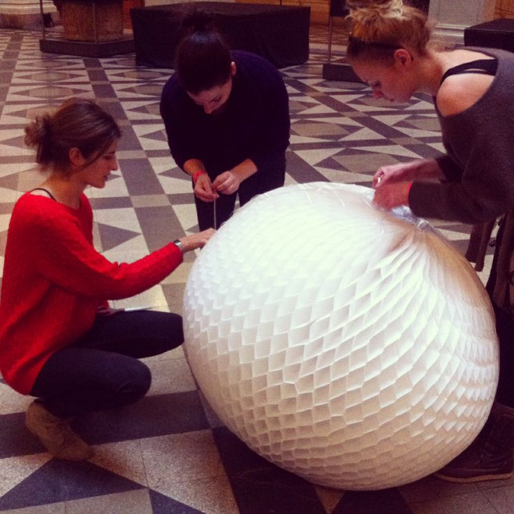 giant honeycomb ball - Budapest, Museum of Fine Arts