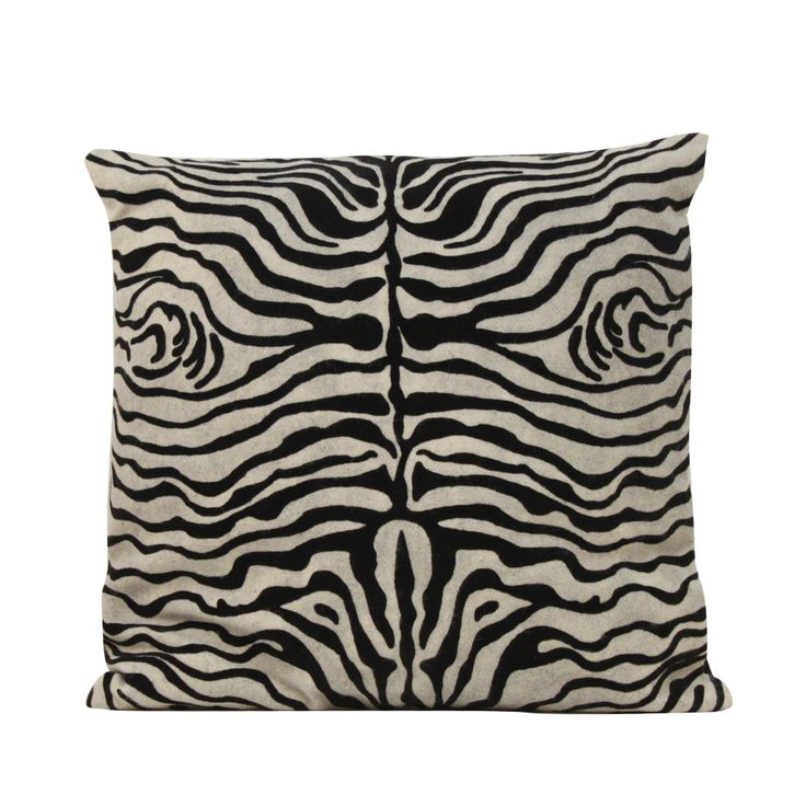 ZEBRA BW Pillow #bw #zebraprint #safari #tribalchic