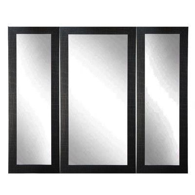 BrandtWorksLLC Madelyn Marie Full Body Trifold Mirror Finish: Scratched Black