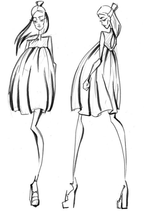 Fashion sketches by LV-Love (arctiumstudio)