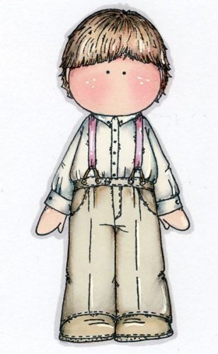Dibujos. Clipart. Digi stamps - Magnolia Country Boy