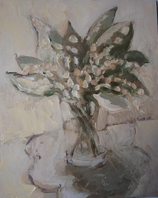 Lily of the Valley (Painting) przez ANNA  BARDZKA