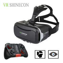 """Горячая 3D VR Виртуальная Реальность 3D Очки VR SHINECON 2.0 Google Картонный Шлем с Bluetooth Пульт Дистанционного Управления Геймпад для 4.7-6.0"""" //Цена: $19 руб. & Бесплатная доставка //  #electronic #device"""