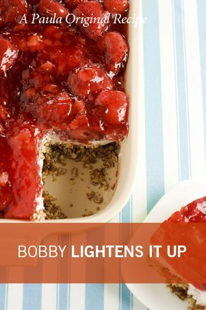 Bobby's Lighter Strawberry Pretzel Salad