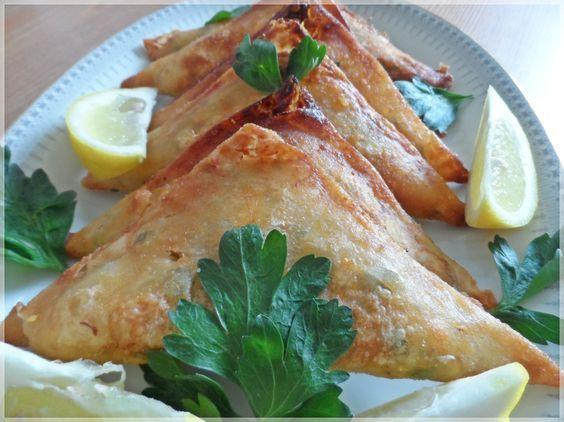 Brik mit Kartoffeln und Thunfisch