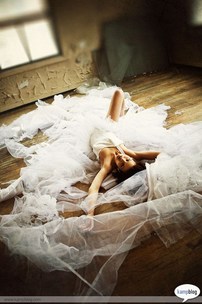 now this is trashing a dress...
