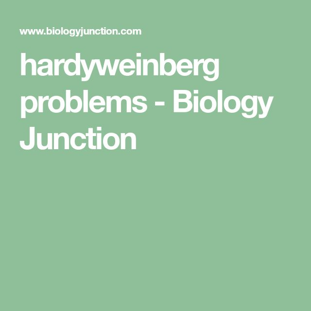 hardyweinberg problems - Biology Junction