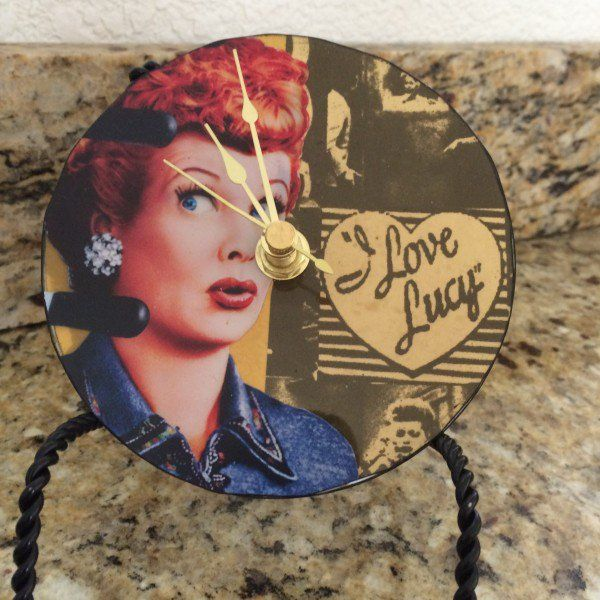 Upcycled CD I Love Lucy Horloge Electronique Accessoires & E-déchets