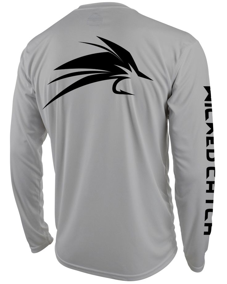 Fly angler wicked catch performance fishing shirt back for Fly fishing shirt