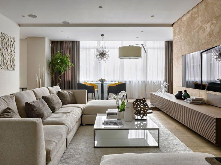 Idea soggiorno contemporaneo moderno