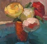 painting orange flowers in vase - Bing Images