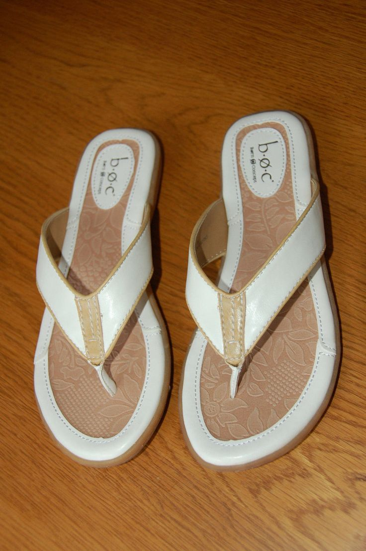 Born Boc Quot Zita Quot White Thong Sandal Comfort Slide Flip