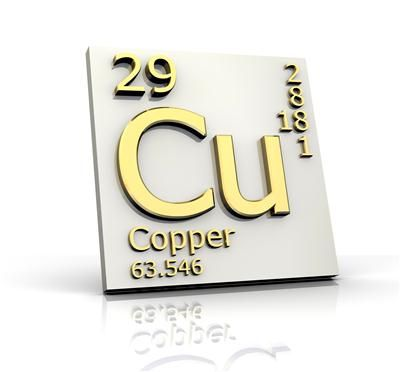 Chemical symbol and atomic properties of copper