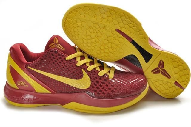 50ef0564724 Nike Zoom Kobe 6 USC Red Vibrant Yellow