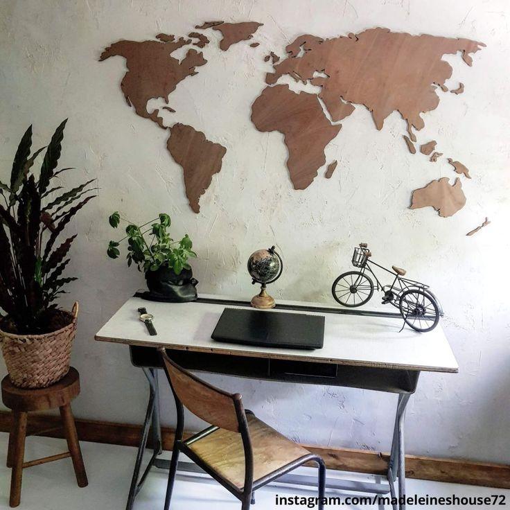 Cc Wohndesign: 3D Weltkarte Aus Holz - Mahagoni In 2019