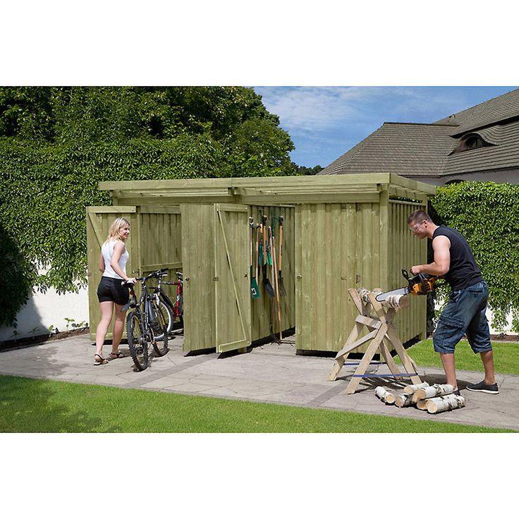 Ideal Ger teschuppen Typ Ger tehaus Holz x Cm Fahrradgarage Fahrradunterstand