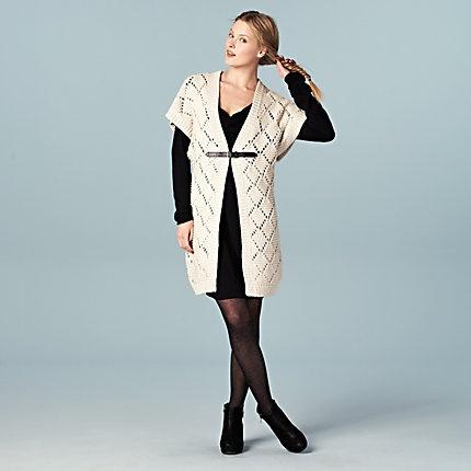 Kies eens voor een mouwloos groot vest. Prima over een jurk of tuniek! #LOOKVANDEDAG
