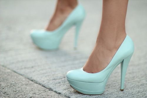 Tiffany blue heels